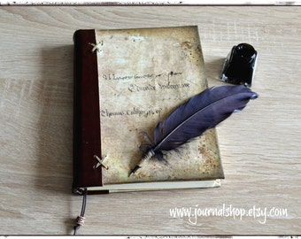 Sketchbook, book of shadows, writing journal, diary, notebook with a vintage look