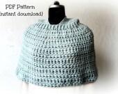 Crochet cape pattern, crochet hooded cape, adult hoodie pattern, crochet poncho with hood, cape with hood, pattern no 133