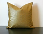 Decorative Throw Pillow Cover, Bronze Gold Metallic Decorative Pillow Cover, Toss Pillow, Sofa Pillow, Accent Pillow, Bedroom Pillow