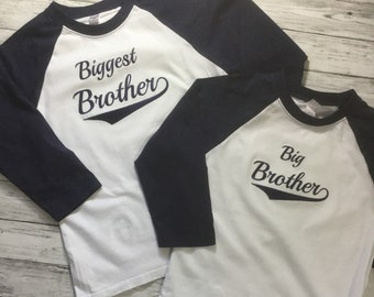 Big Brother shirt/Little brother/middle brother.3/4 Raglan Big brother baseballl shirt, big brother announcement, Promoted to big brother