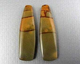 Beautiful  cut and polished pair of  jasper , cherry creek B5454