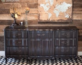Black French Provincial Dresser or Buffet