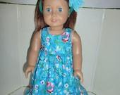 "18"" Doll Dress Fits American Girl, Madame Alexander and Gotz Dolls Hawaiian Dress"