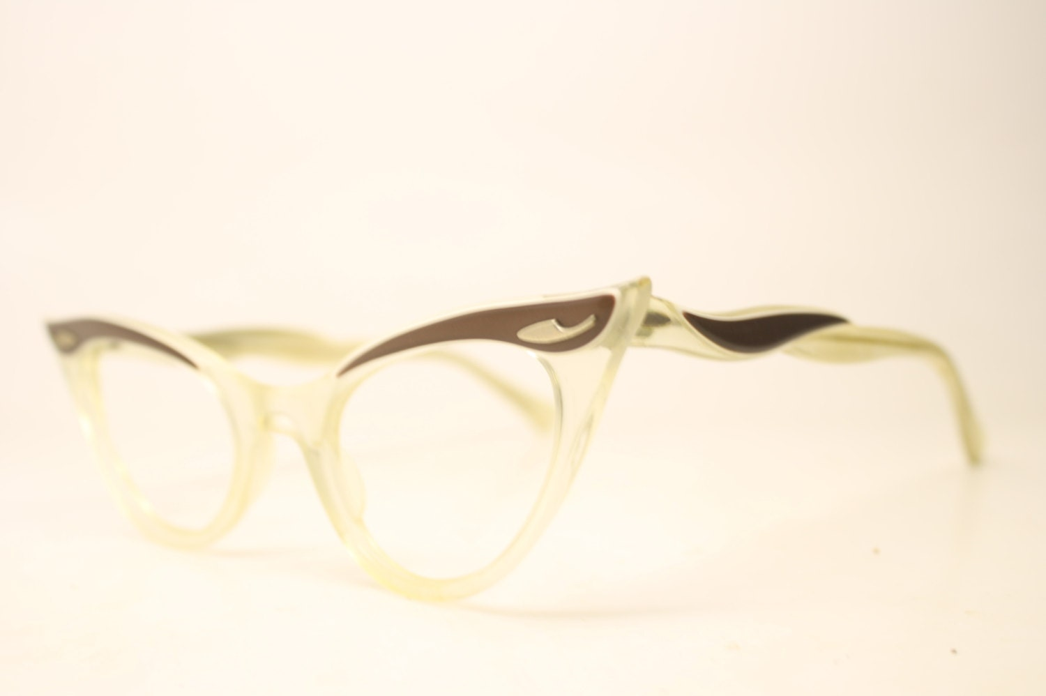 pointy cat eye eyeglasses unique vintage eyewear retro glasses