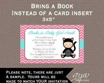 Matching Insert - Insert Matching Printable - Bring a Book Instead of a Card Insert - Made to Match any Card in my Shop - Matching Insert