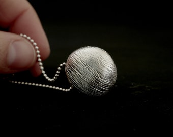 Sterling Silver Pebble Necklace