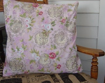 Parisian pink envelope-style pillow cover 18 x 18 inches in size