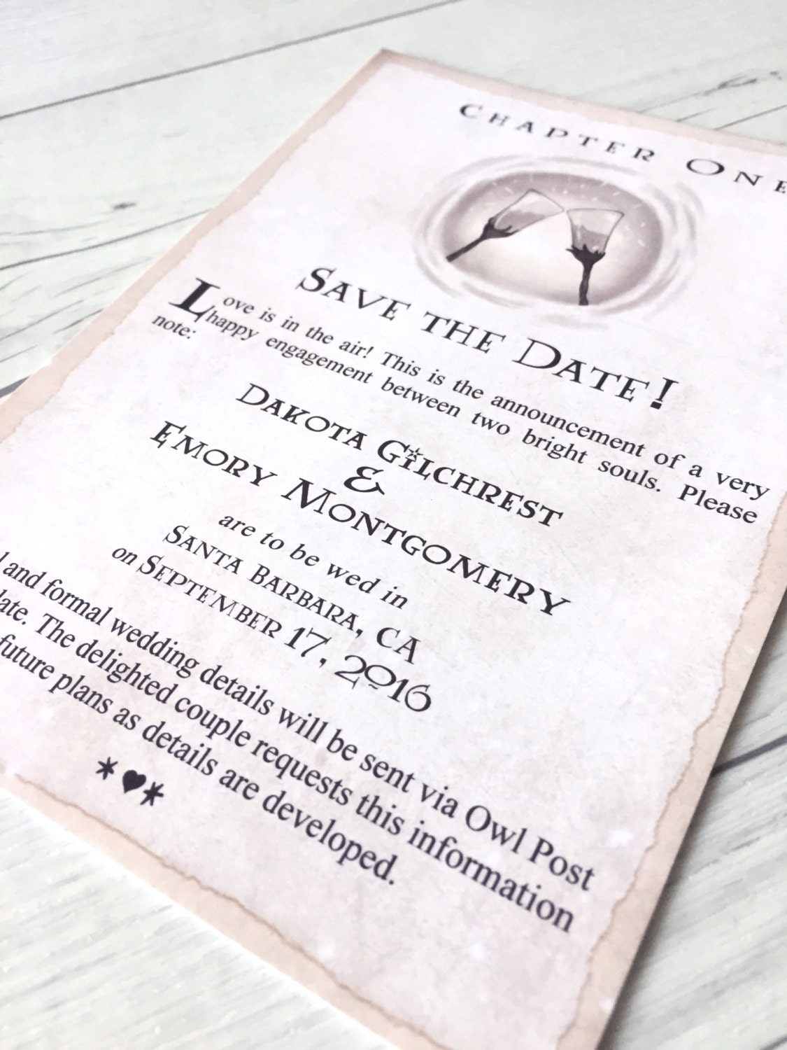 Harry Potter Book Dates : Harry potter save the date book chapter by