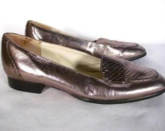 Nordstrom Silver Metallic Loafer Women size 7.5