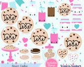 INSTANT DOWNLOAD - Kawaii Cookie Clipart for personal and commercial use