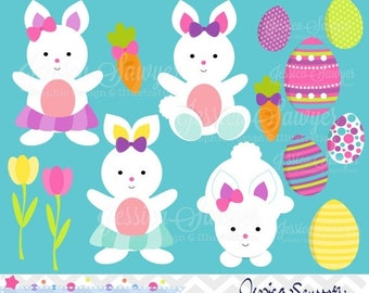 80% OFF - INSTANT DOWNLOAD, easter clipart, little girl easter bunny clip art, for commercial use, personal use