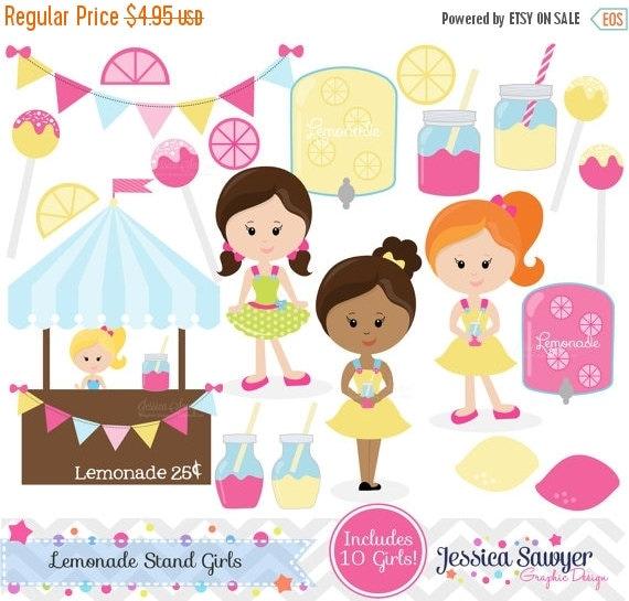 80% OFF - INSTANT DOWNLOAD,  mason jar lemonade stand clip art, lemon clipart, commercial use, invitation, graphic, summer design
