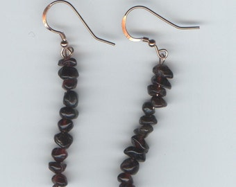 Deep Garnet Dangle Earrings