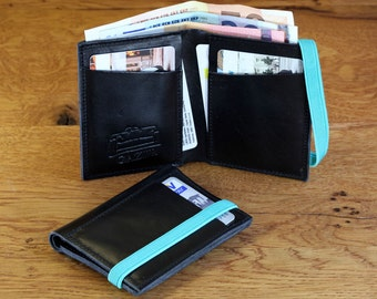 Leather men wallets - minimal leather wallet - portemonnaie - Gift Ideas For Him