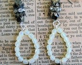 Old Repurposed French Religious Catholic Medals Earrings