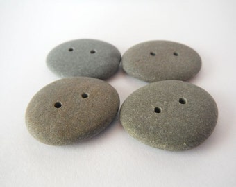 Beach Pebble Buttons - Set of 4