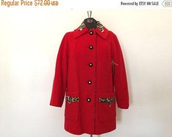 xoxo... Vintage 1960s Coat / Large/XL / Leopard Print Coat
