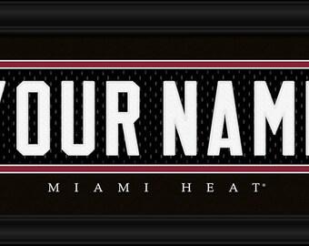 PERSONALIZED & FRAMED NBA Miami Heat Sports Prints