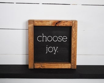 Choose Joy - Mini Wood Sign