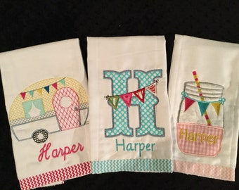 Summer Burp Cloth Set
