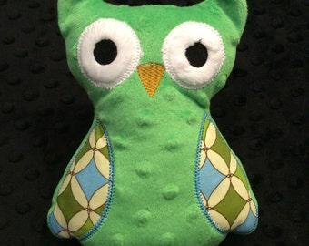 Green Minky Owl, CLEARANCE SALE