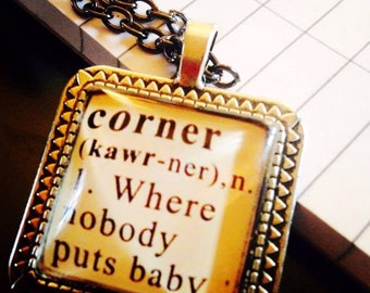 Dirty Dancing Movie 25mm Square Pendant