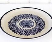 Vintage Blue Stoneware Plate
