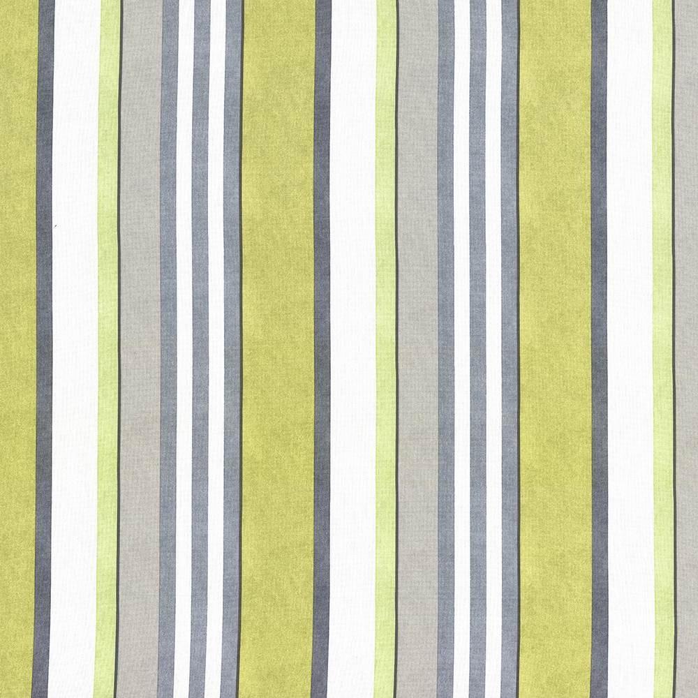 Grey lime green stripe upholstery fabric custom charcoal