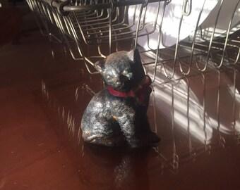 Antique cat cast iron paperweight