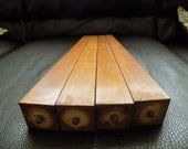 """Vintage Mid century Tapered Furniture Legs with screw insert -stamped """"Yugoslavia"""" on each"""