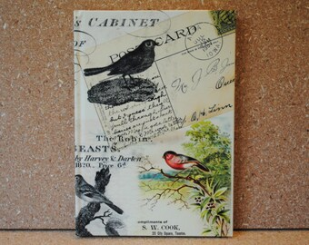 Birds and Postcards Lined Journal Bound Notebook