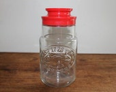 1776 Vintage Anchor Hocking Jar with screw on red lid