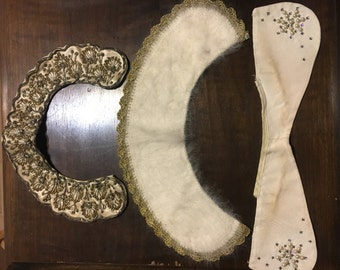 Lot of 3 vintage collars 1940s 1950s