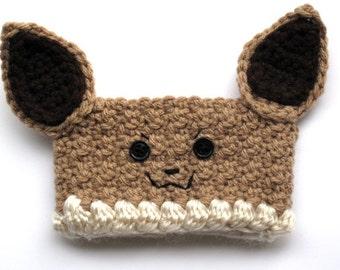 Crochet Pokemon Eevee Coffee Cup Cozy