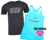 Valentines Gift, Valentine Shirt, Valentines Day, Husband and Wife Shirts, Just Married Shirts, Couples Shirts, Honeymoon Shirt Package