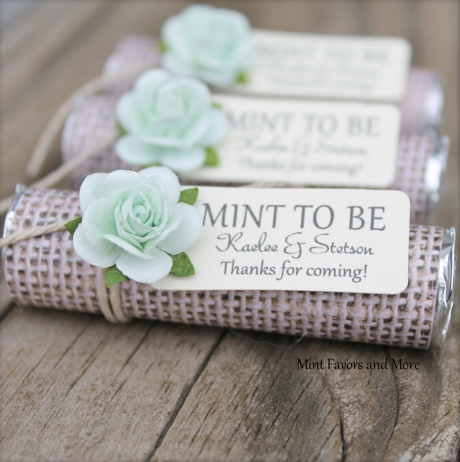 Mint Wedding Favors Set Of 100 Mint Rolls Mint To