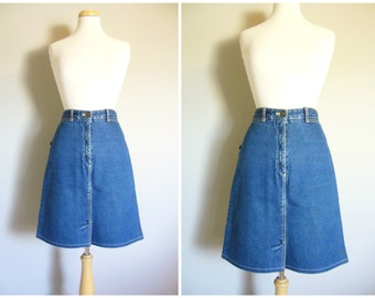 Vintage JORDACHE DENIM SKIRT/Size Small-Medium