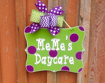 Personalized Door Sign Daycare Decor Classroom Decor