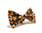 Candy Corn Bow Tie, Halloween Dog Bow Tie, Dog Bow Tie, Bowtie, Halloween Bow, Doggy Bowtie