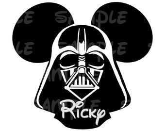 Star Wars Darth Vader Personalized Name Printable Image for Iron On Transfer DIY Disney Birthday Disney Luke Jedi Knight