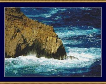 Rocky Coast Cross Stitch Pattern