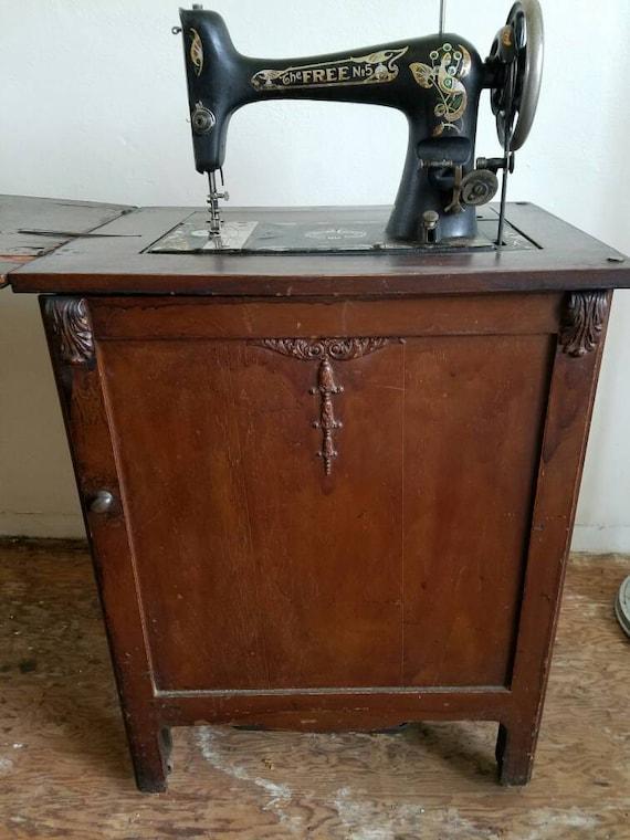 antique sewing machine cabinet