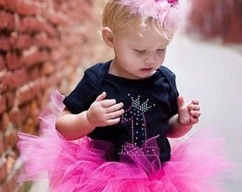 Birthday girl outfit tutu rhinestones set