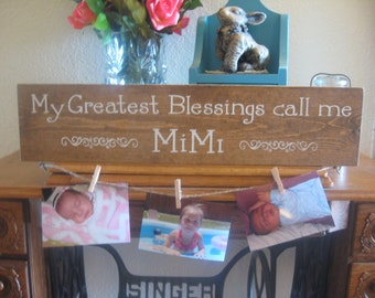 Grandmother Sign,Grandchild Sign,Greatest Blessings Sign,Wood Sign,Gift for Grandmother,Mimi Sign,Grammy sign,Primitive wood Sign