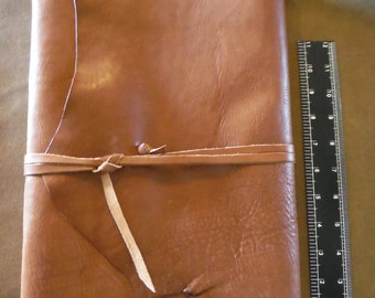 Giant Leather Journal Sketchbook (blank), strap closure, 240pg  Massive Huge Tome, Large Enormous Handmade Book