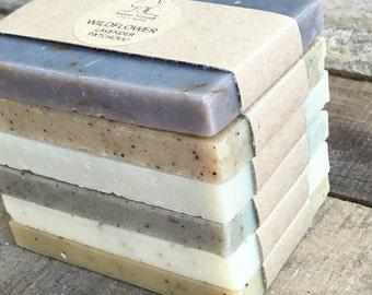 Soap Sampler Set - Soap Ends, All Natural soap, Handmade soap, Cold Process soap, essential oil soap, vegan soap, Stocking Stuffer