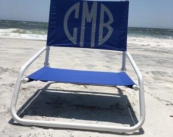 Beach Chair Monogrammed Personalized Folding Monogram
