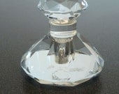Beautiful Cut Crystal Perfume bottle with Matching Stopper