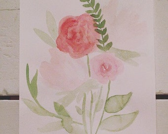 Bloom (Piece 3)---8x10 Watercolor Painting