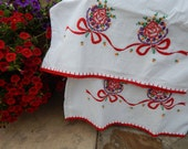 Lovely Embroidered Vintage Pillowcases